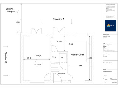 Groundfloor Existing Plan  - AW202012 -