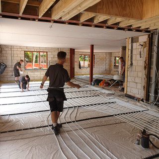 Underfloor heating installation, Eynsford