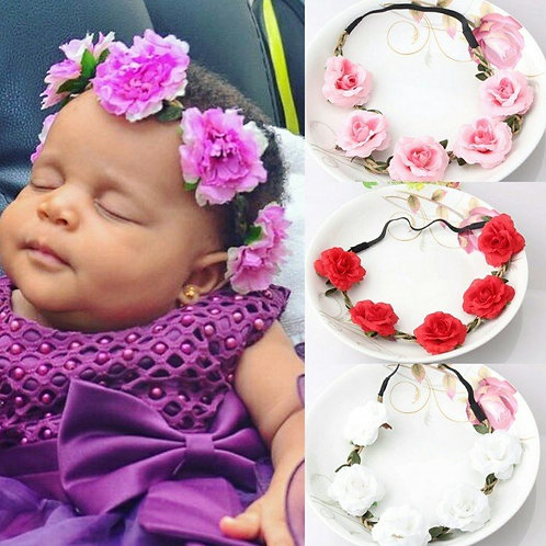 Floral Headband (Mommy & Me) -  2 pcs, More Color Options