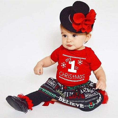 Unisex 1st Christmas Romper