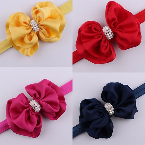 Satin Bow Headband (More Colour Options)
