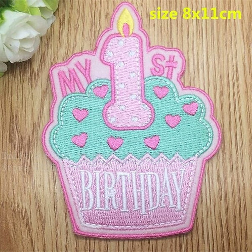 First Birthday Iron-on Patch