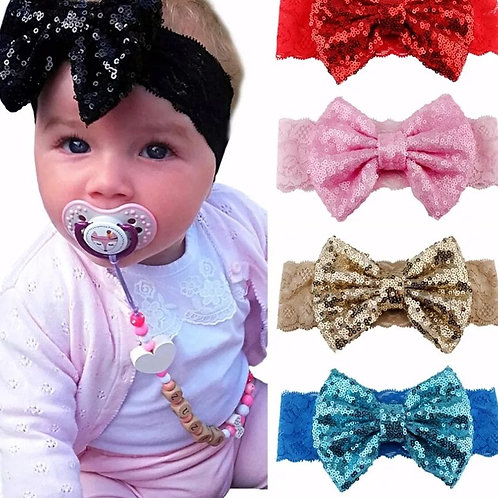 Sequin Bow Lace Headband (More Color Options)