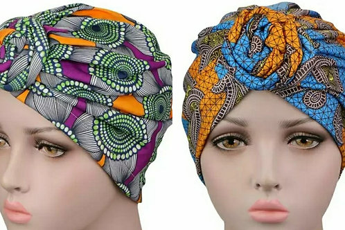Adult Knotted Turbans (More Colour Options)