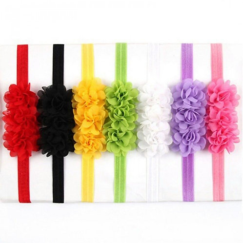 Chiffon Flower Headbands (More Color Options)