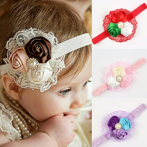 Rose Flower Headband (More Colour Options)