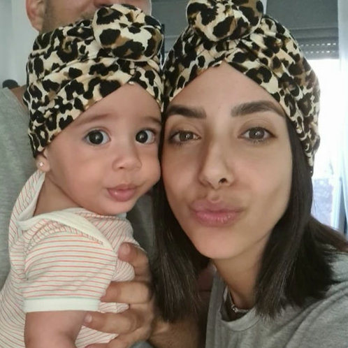 Animal Print Turban Set - Adult & Child
