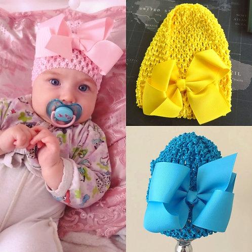 Infant Bow Hat (More Colour Options)