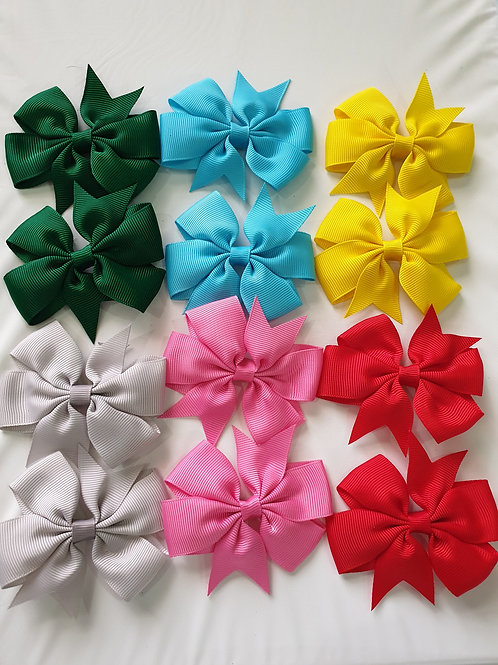 6 Bow Clips  (More Colour Options)