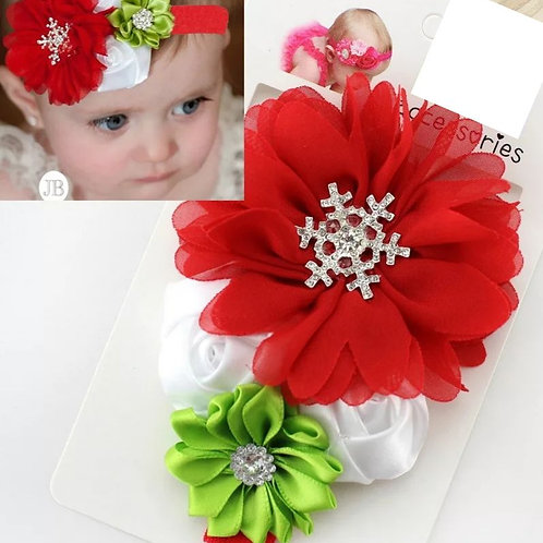Snowflake Rose Headband