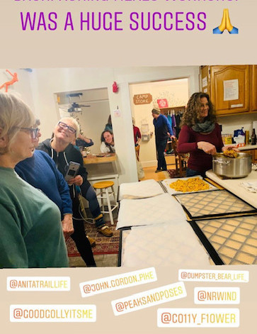 Backpacking cooking class