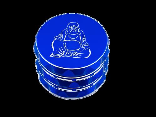 """Happy Buddha"" 4 in 1 Premium Grinder w/ Kief Catcher 2'5 Cosmic Blue"