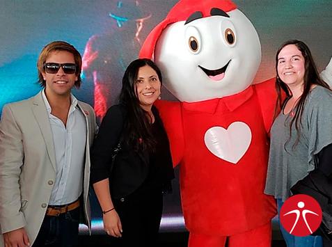 En la foto de izquierda a derecha: Cristián González, Catalina Prieto, Teletín, Andrea Carrasco