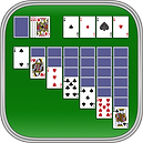 App icon for Klondike Solitaire. Playing cards in a solitaire layout on a green felt background