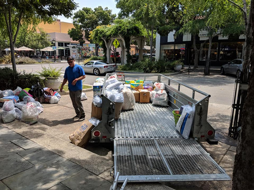 Donations from locals for victims of the Carr Fires in Mendocino