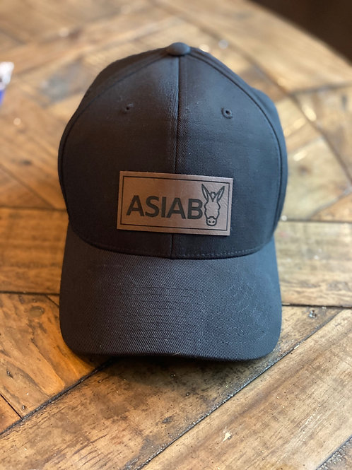 Vegan Leather Black Hat