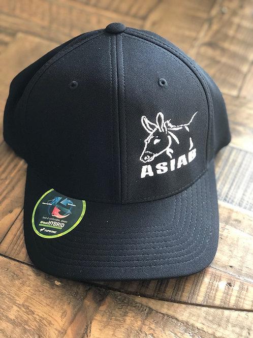 Black ASIAB-Donkey Flexfit Hat