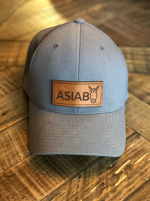 grey hat with leather ASIAB patch