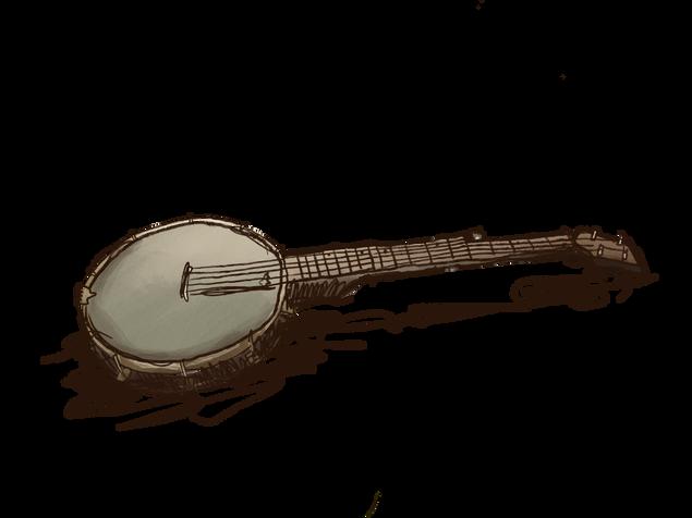 """Illustration for Sakari Löytty's upcoming album """"Maalla"""""""