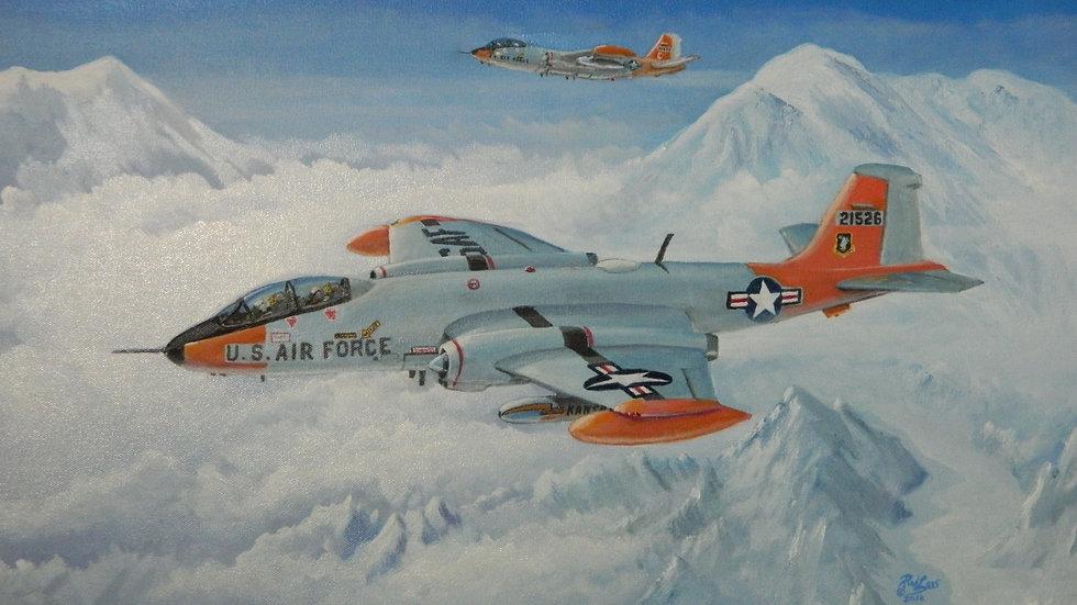 EB-57 over Alaska