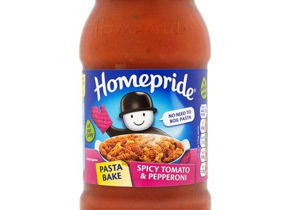 Homepride Pasta Bake Tomato And Pepperoni 500G