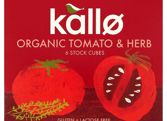 Kallo Organic Tomato & Herb Stock Cubes 6 x 11g