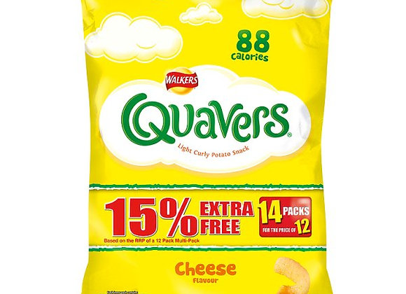 Walkers Quavers Cheese Flavour 12 Packs