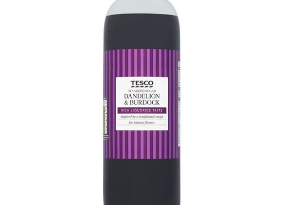 Tesco No Added Sugar Dandelion And Burdock 2L Bottle