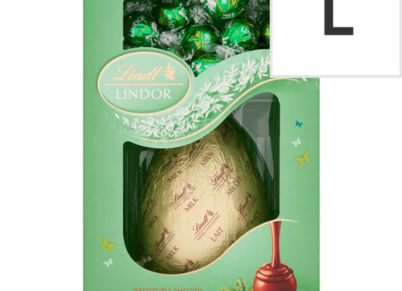 Lindt Lindor Milk Mint Chocolate Egg 285G