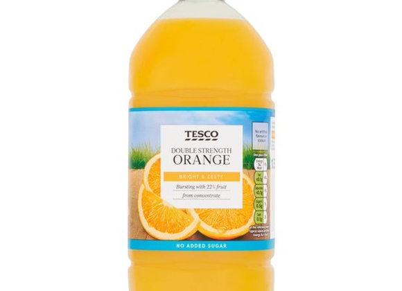 Tesco Double Strength Orange Squash No Added Sugar 1.5L