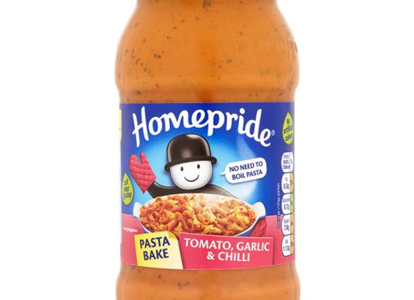 Homepride Pasta Bake Creamy Tomato And Bacon Sauce 500G