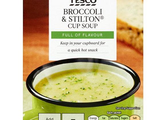 Tesco Broccoli And Stilton Soup In A Mug 5 Pack 120G