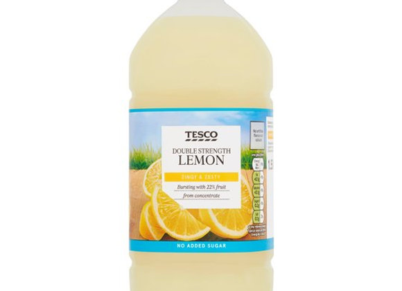 Tesco No Added Sugar Lemon Squash Double Concentrated 1.5L