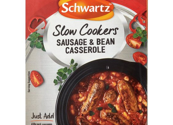 Schwartz Slow Cookers Sausage And Bean Casserole 35G