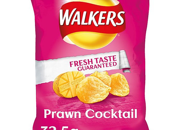 Bulk Buy Walkers Prawn Cocktail 32.5g bags x 32