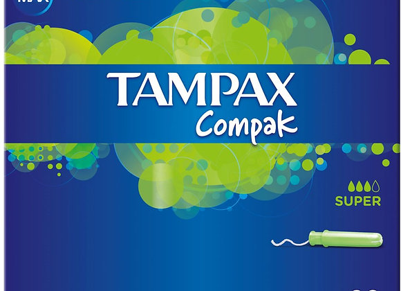 Tampax Compak Super Tampons Applicator 20