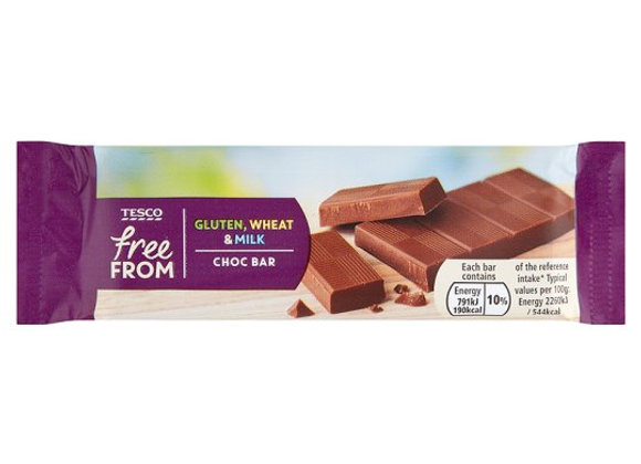 Tesco Free From Chocolate Bar 35G
