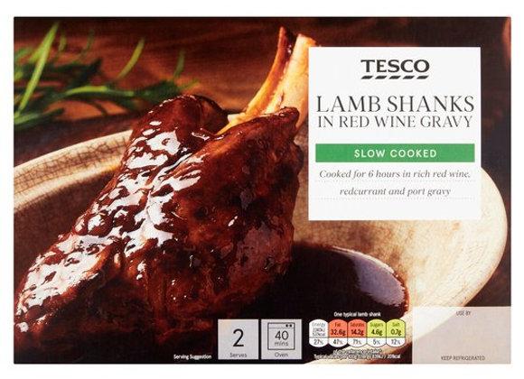Tesco 2 X Lamb Shanks In Red Wine Gravy 780G