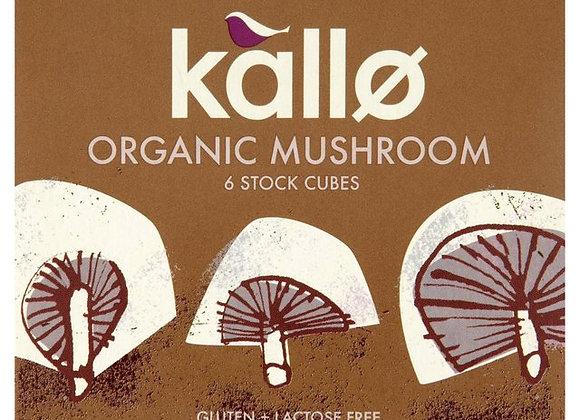 Kallo Organic Mushroom Stock Cubes 6 x 11g