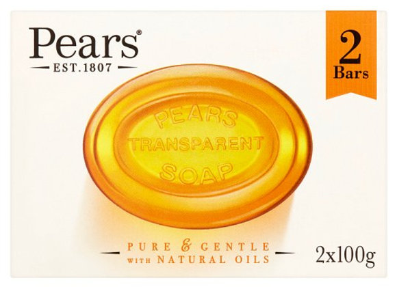 Pears Amber Bar Soap 2X100g
