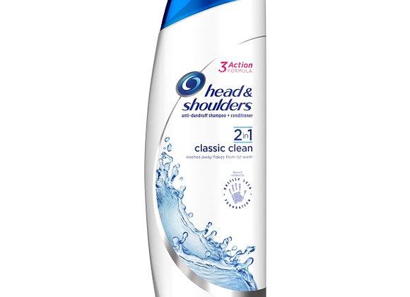 Head & Shoulders Classic Clean Anti-Dandruff 2in1 Shampoo 225ml