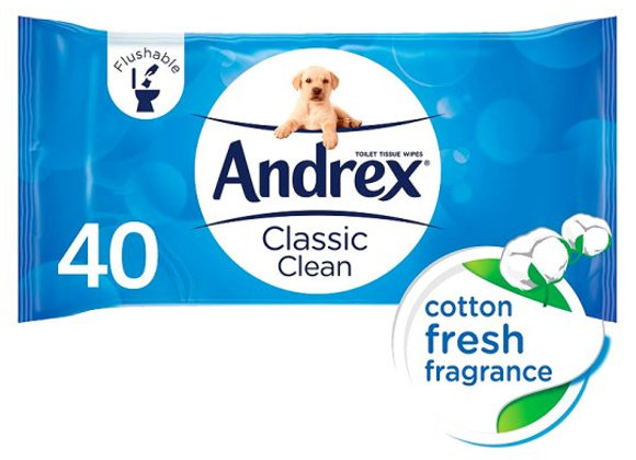 Andrex Classic Clean Washlets 40 Refill Wipes