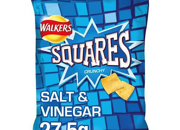 Bulk Buy Walkers Squares Salt & Vinegar Snacks 32 Bags