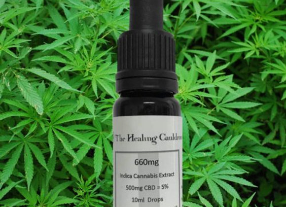SILVER 660mg Cannabis Indica Extract 500mg CBD