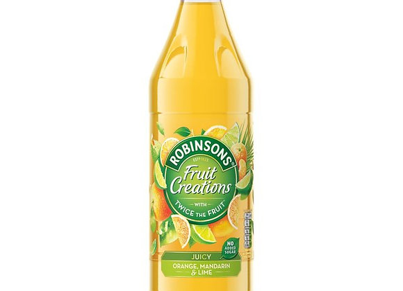 Robinsons Fruit Creations Juicy Orange, Mandarin and Lime No Added Sugar, 1 L