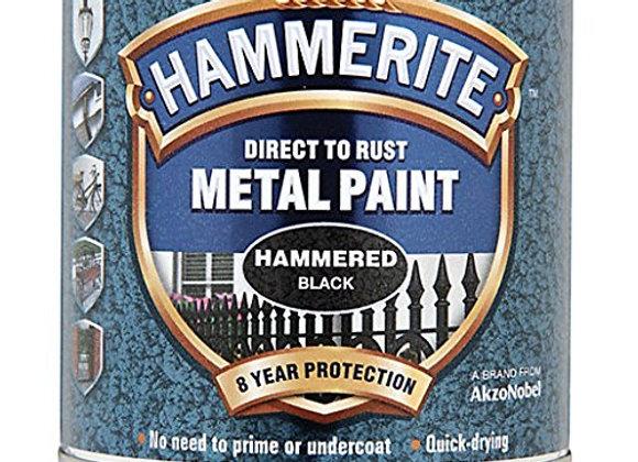 Hammerite Metal Paint Hammered - Black -750ml