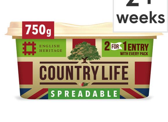 Country Life Original Spreadable 500g or 750G