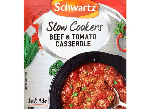 Schwartz Slow Cookers Beef And Tomato Casserole 40G