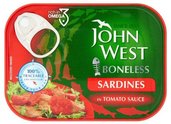 John West Boneless Sardines Tomato Sauce 95G