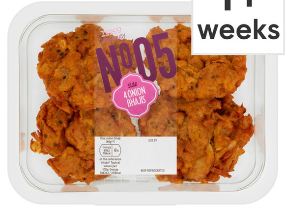 Tesco Takeaway 4 Onion Bhajis 196G
